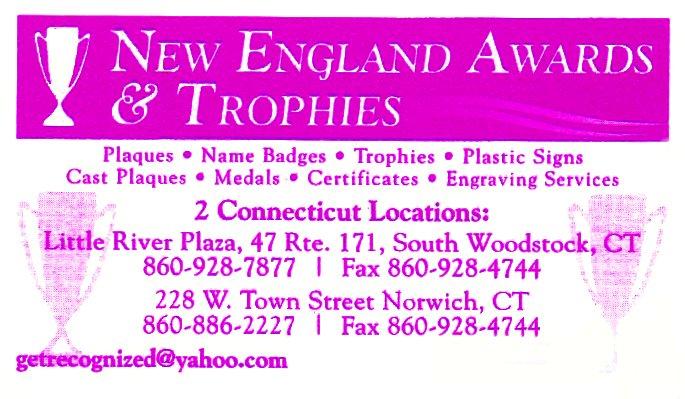 new endgland awards & tropies