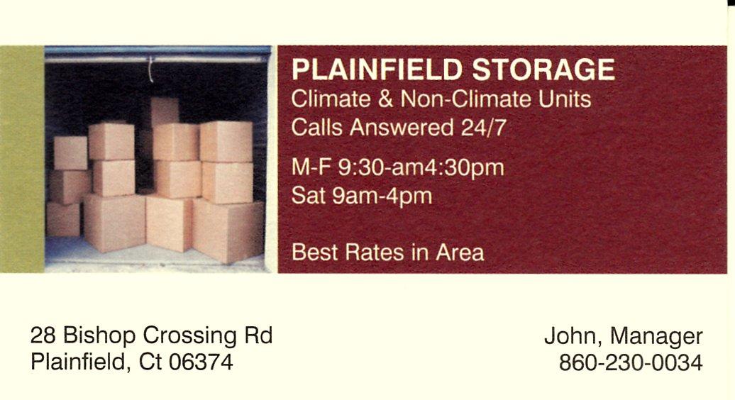 plainfield storage