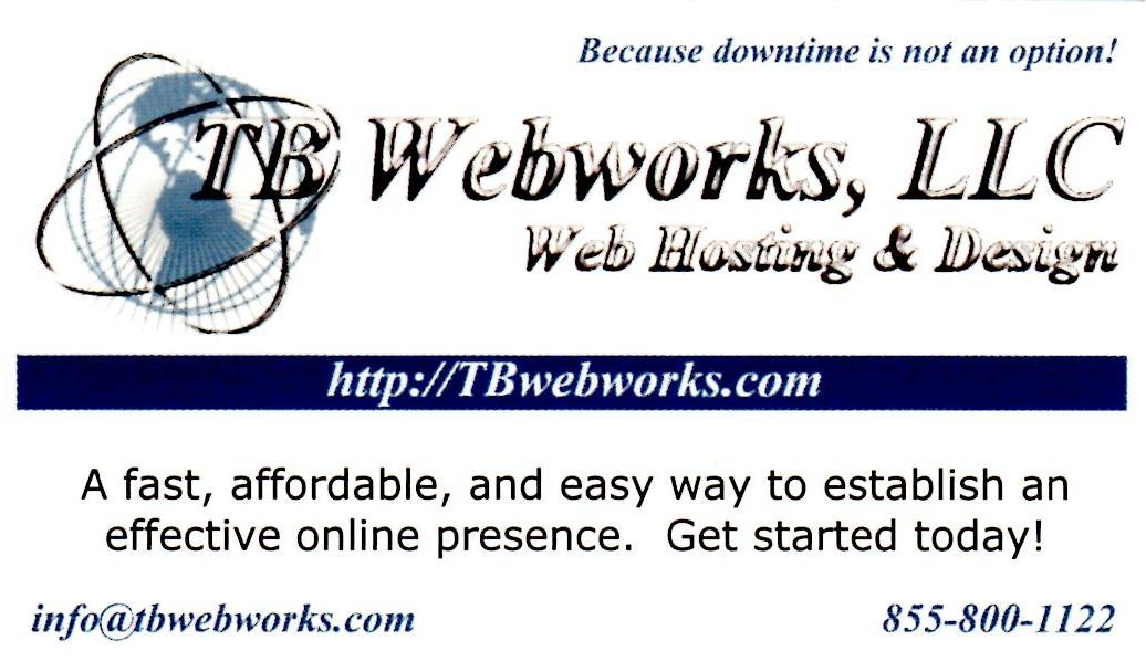 tbwebworks web design & hosting services