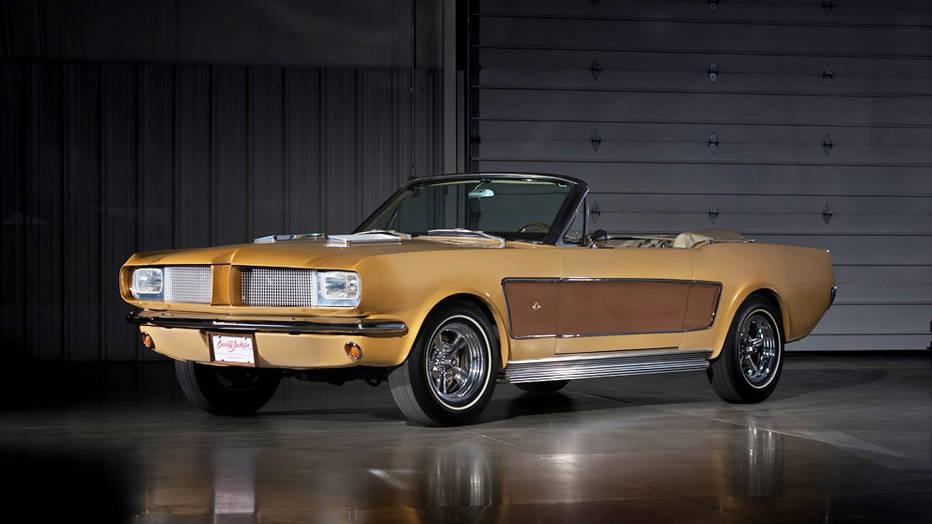 gold mustang convertible