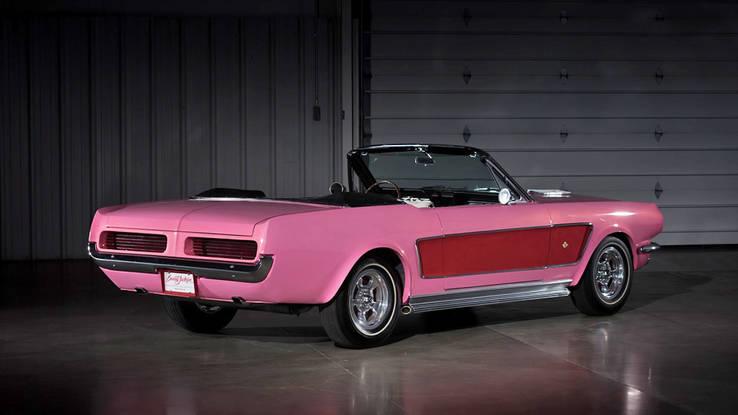 pink mustang convertible