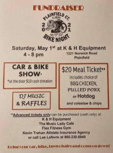 Fundraiser for Plainfield Bike Night @ K & H Equipment | Plainfield | Connecticut | United States