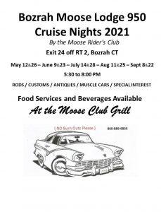 Bozrah Moose Lodge Cruise Nights 2021 @ Bozrah Moose Lodge 950 | Bozrah | Connecticut | United States