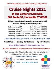 SCMC Cruise Nights 2021 @ The Center of Montville | Montville | Connecticut | United States