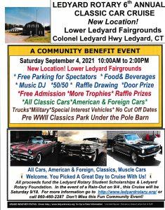 6th Annual Ledyard Rotary Classic Car Cruise @ Lower Ledyard Fair Grounds | Ledyard | Connecticut | United States